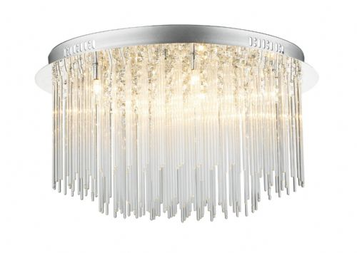 Icicle 8-light Polished Chrome Flush Ceiling Light (825808) ICI4850
